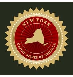 Star label New York vector image