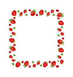 Sweet frame made of strawberry vector