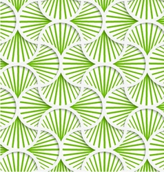 3D green striped pin will grid vector image