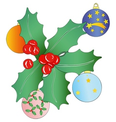 Christmas garland and christmas balls vector