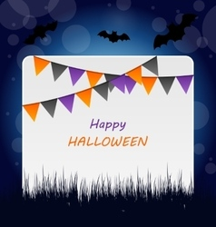 Halloween invitation with bunting pennants vector
