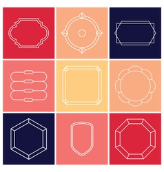 Contour label 9 elements vector