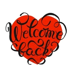 Welcome back hand drawn lettering vector