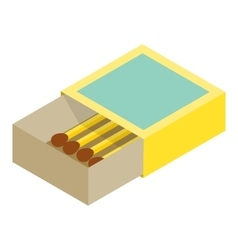 Matchbox isometric 3d icon vector