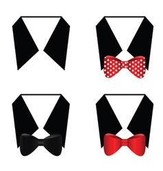 Collar with bow set vector