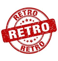 Retro red grunge round vintage rubber stamp vector