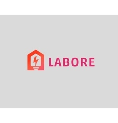 Abstract flash house logo design template vector