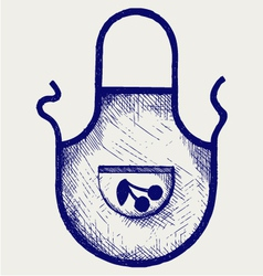 Apron for the kitchen vector image