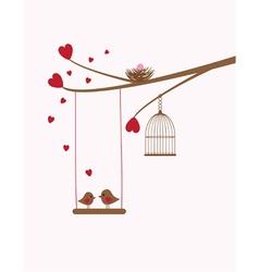 Bird swing baby vector