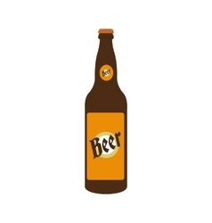 Bottle of beer icon vector