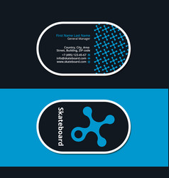 Business card for snowboarders vector