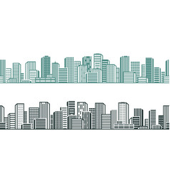 city view cityscape urban high-rises building vector image