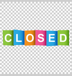 Closed tag market message flat on white background vector