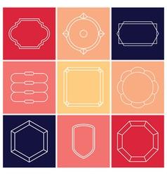 Contour label 9 elements vector image vector image
