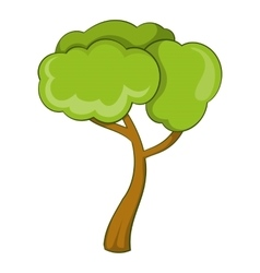 Deciduous tree icon cartoon style vector image