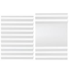 Folded blank white paper vector