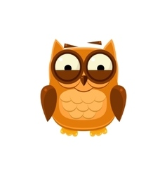 Giggly brown owl vector