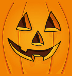 Halloween face pumpkin vector
