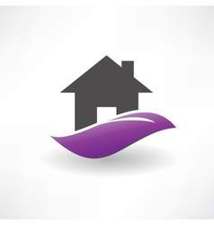 house on the hill icon vector image