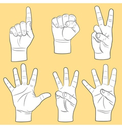 Human hands set vector