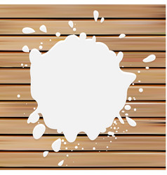 Isolated white color blotch logo Milk vector image vector image