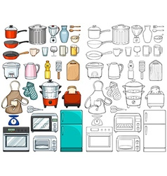 Kitchen tools and equipments vector