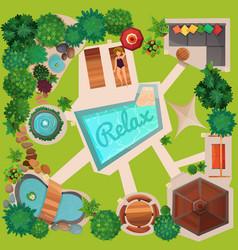 landscape design top view vector image