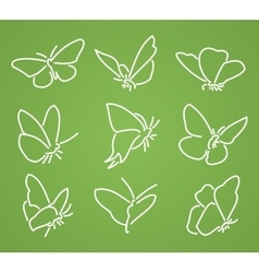 Line butterfly set vector