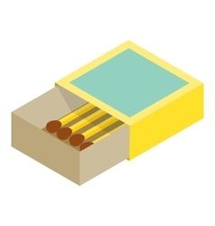 Matchbox isometric 3d icon vector