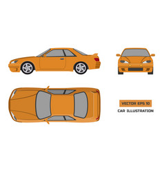 Orange car on a white background vector