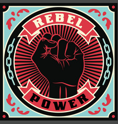 raised protest human fist vector image vector image