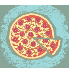 retro pizza vector image