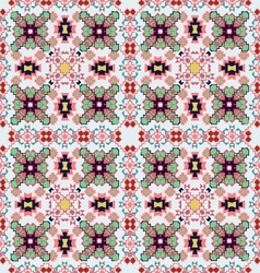 Seamless colorful ethnic pattern vector image