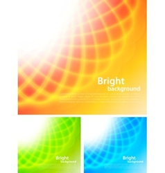 Set of bright backrounds vector