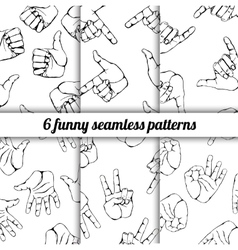 Set with seamless patterns vector