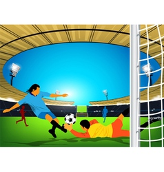 stadium Soccer game vector image