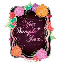 summer floral postcard vector image vector image