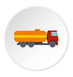 Tanker truck icon circle vector