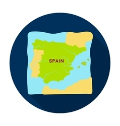 Territory of spain icon in flat style isolated on vector