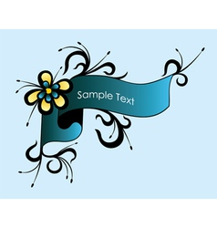 Vintage Floral Label vector image vector image