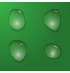 Water bubble set vector image