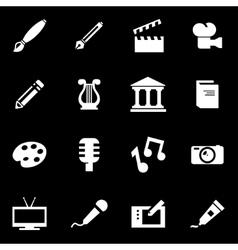 white art icon set vector image