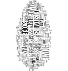 Your home biz store text word cloud concept vector