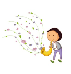 Saxophone player vector