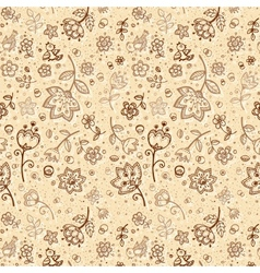 Hand-drawing flower pattern vector