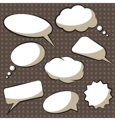 comics speech bubbles vector image