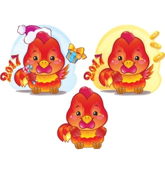 Cute Rooster for the Chinese New Year vector image