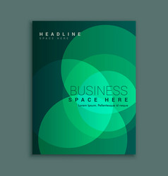 Business magazine cover with abstract green vector