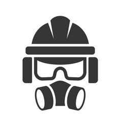 Builder safety helmet protection glasses vector