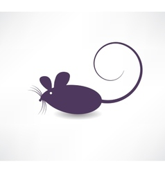 Dark rat icon vector